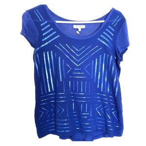 Royal Blue Aeropostale Sequin Shirt